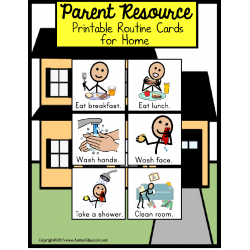 FREE Autism Parent Resource ROUTINE CARDS FOR HOME