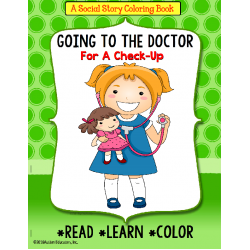 Social Story Coloring Book Series GOING TO THE DOCTOR (Girl version)