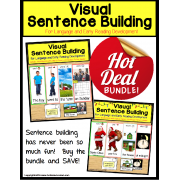 Special Education VISUAL SENTENCE BUILDING BUNDLE for Autism
