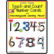 Touch and Count Interchangeable Number Cards (Special Education)
