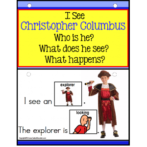 Autism Build A Sentence with Pictures Interactive CHRISTOPHER COLUMBUS