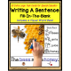 Writing Sentences LARGE Task Cards for Autism