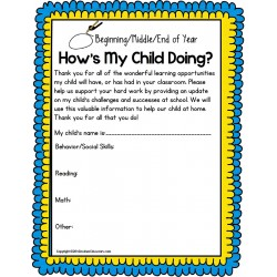 FREE Autism Parent Resource STUDENT PROGRESS Parent Teacher Communication Form