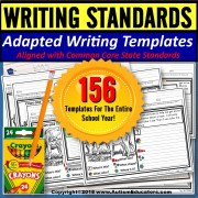 Adapted Writing Templates Binder for Special Education