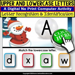 Upper and Lowercase Letter Recognition Digital Resource for SPECIAL EDUCATION
