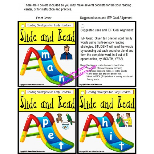 Reading strategies 100 slide and read word cards autism and reading strategies 100 slide and read word cards autism and special education expocarfo Image collections