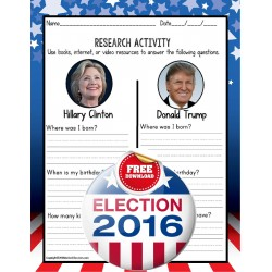 Clinton and Trump Election Worksheet