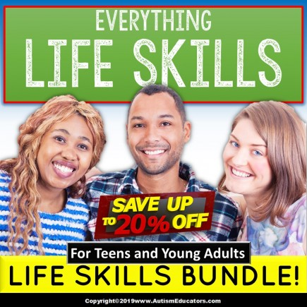 Special Education Life Skills Bundle of Activities For Teens and Young Adults