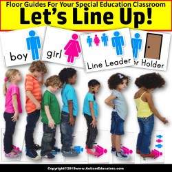 Beginning of School Year LINE UP FLOOR GUIDES Boy/Girl