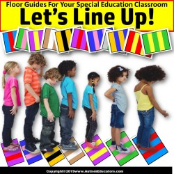 Beginning of School Year LINE UP FLOOR GUIDES Striped Patterns