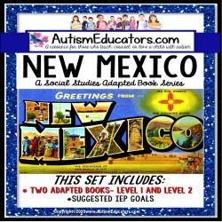 NEW MEXICO State Symbols ADAPTED BOOK for Special Education and Autism
