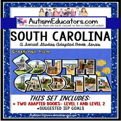 SOUTH CAROLINA State Symbols ADAPTED BOOK for Special Education and Autism