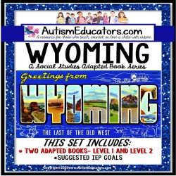 WYOMING State Symbols ADAPTED BOOK for Special Education and Autism