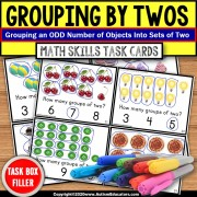 Counting by Twos   Grouping By 2s with ODD Number of Objects TASK BOX FILLER