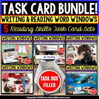 """""""WH"""" Prompts   Writing Vocabulary Words Task Box Filler Bundle   Autism Task Box"""