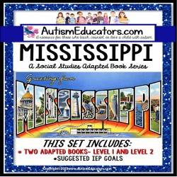 MISSISSIPPI State Symbols ADAPTED BOOK for Special Education and Autism