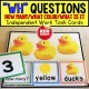 WH QUESTIONS Task Cards for NUMBER COLOR and OBJECT Task Box Filler
