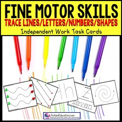 FINE MOTOR Skills Tracing Task Cards TASK BOX FILLER