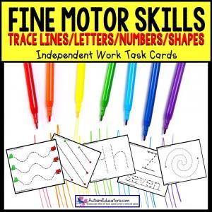 FINE MOTOR Skills Tracing Task Cards TASK BOX FILLER