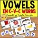 VOWELS in C-V-C Words Task Cards TASK BOX FILLER
