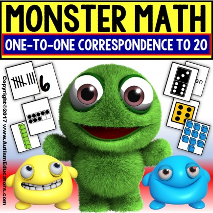 MONSTERS Counting Up To 20 ONE TO ONE CORRESPONDENCE for Special Education