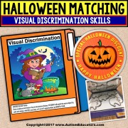 HALLOWEEN File Folder Activities MATCHING and VISUAL DISCRIMINATION