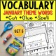 JANUARY Vocabulary and Fine Motor MONTHLY Worksheets Special Education Resource