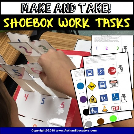 FREE Shoebox Task for Autism and Special Education