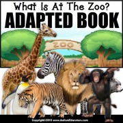 Adapted Book: WHAT IS AT THE ZOO – Special Education Resource for Reading