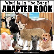 Adapted Book: WHAT IS IN THE BARN – Special Education Resource for Reading