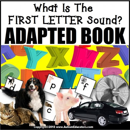 Adapted Book: WHAT IS THE FIRST LETTER SOUND – Special Education Resource