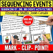 SEQUENCING 1st 2nd 3rd with Pictures and Text Task Cards TASK BOX FILLER