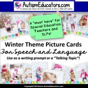 WH Question Prompts Picture Cards WINTER THEME for Language and Writing