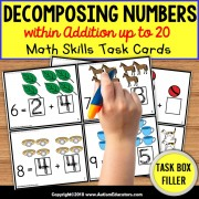 DECOMPOSING NUMBERS Task Cards TASK BOX FILLER - Special Education Resource