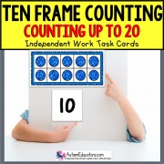TEN FRAME Counting To 20 TASK CARDS Task Box Filler