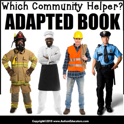 Adapted Book: WHICH COMMUNITY HELPER – Special Education Resource for Reading