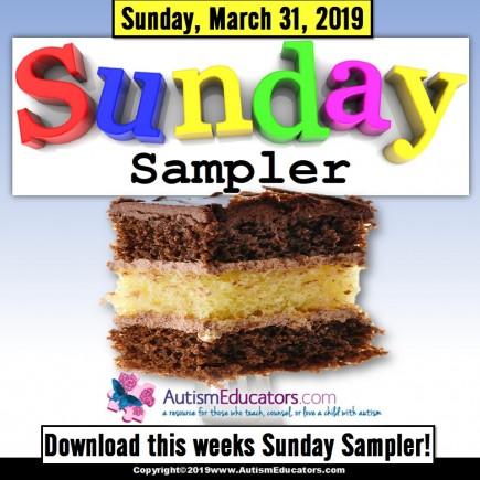 Sunday Sampler from AutismEducators.com