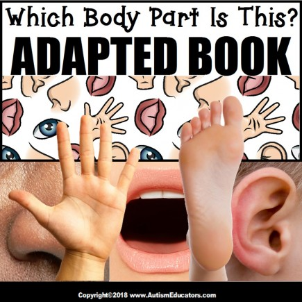 Adapted Book: WHICH BODY PART – Special Education Resource for Reading