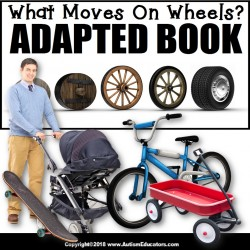 Adapted Book: WHAT MOVES ON WHEELS – Special Education Resource for Reading