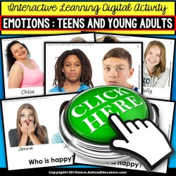 EMOTIONS Teens and Young Adults NO PRINT DIGITAL Social Skills Activity