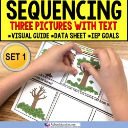 SEQUENCING MATS with Three Pictures and Text for Autism and Special Needs