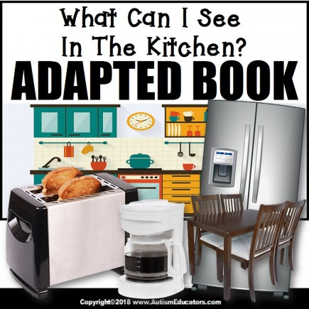 Adapted Book: WHAT IS IN THE KITCHEN – Special Education Resource for Reading