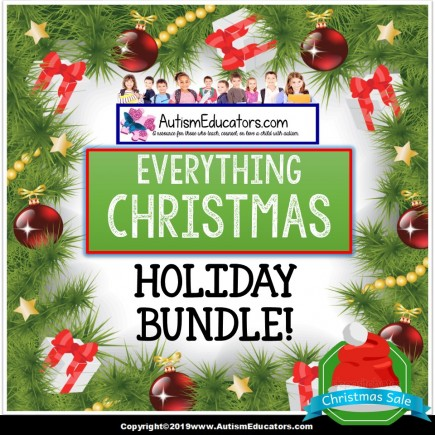 Christmas Bundle with Reading and Math Task Cards - Adapted Book - Social Skills