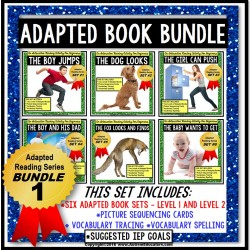 ADAPTED Books For Reading Comprehension and Retelling Special Education BUNDLE ONE