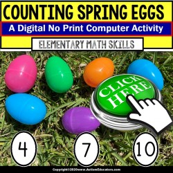 FREE Count Spring Eggs DIGITAL ACTIVITY for Computer or Tablet