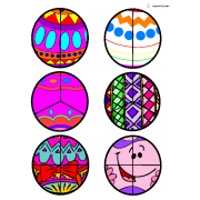 Easter Egg Fraction Circles/Cut & Paste for Autism
