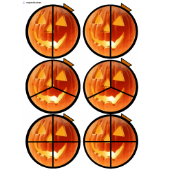 Halloween Pumpkin Fractions for Autism
