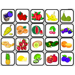 Fruits Picture Matching/Flashcards for Autism