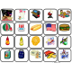 """Fourth of July"" Words Matching/Memory Game/Flashcards for Autism"
