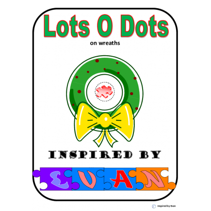 """Lots-O-Dots"" on Christmas Wreaths for Autism"